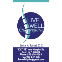 Live Well Chiropractic Business Card